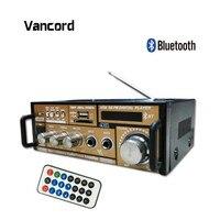 Vancord Hi Fi Bluetooth Receiver Power Amplifier USB FM SD Digital Auto Stereo Power Amplifier Sound