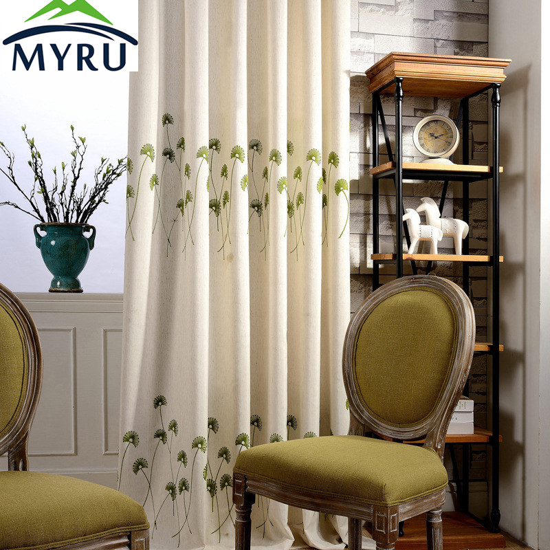 MYRU Hot Sale American Country Style Curtain Health And Environmental  Protection Printing Curtain(China (