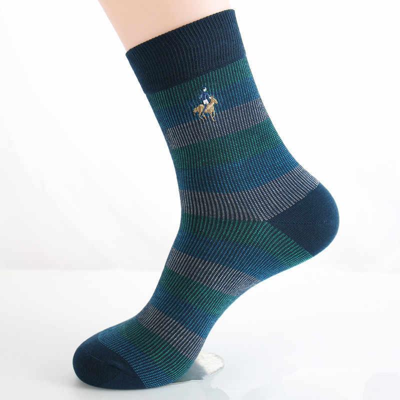 9cd603f0eb59 ... PIER POLO 5 pairs Men Socks Embroidery Winter Man Socks Cotton High  Quality Sheer Mens Dress