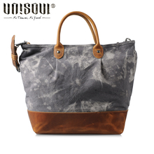 UNISOUL Casual Canvas Handbag for women high quality Vintage Shoulder bags Patchwork Bobos bag Personalized Printing Canvas bag