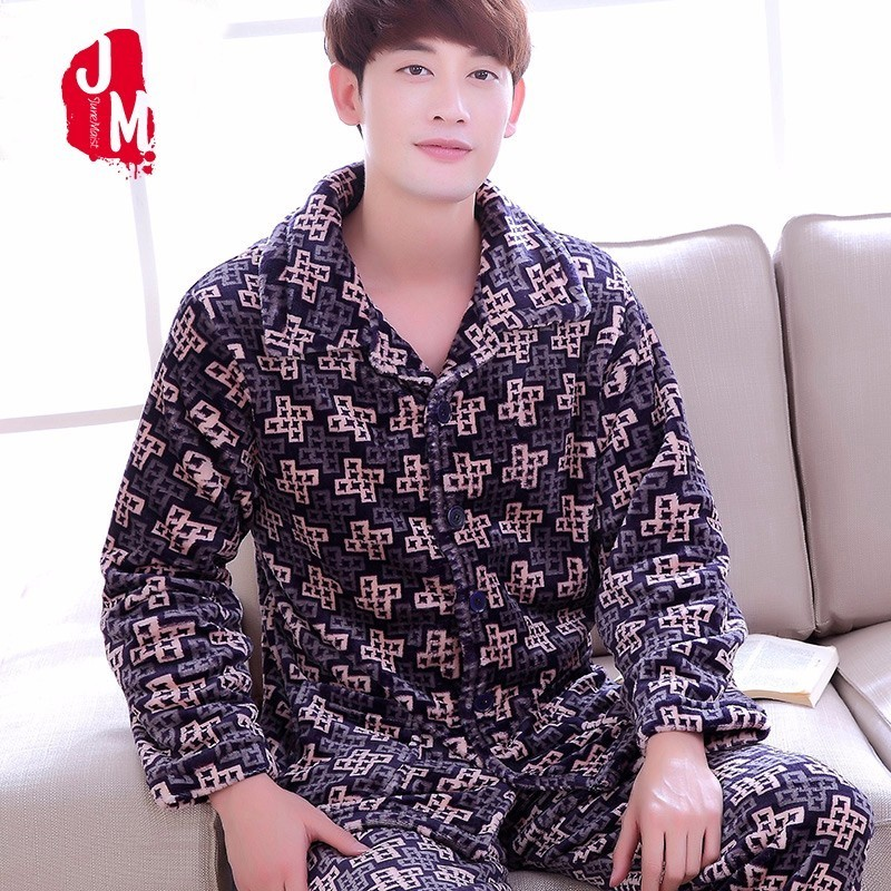 f1da316bc236c 2018 сна зима коралловый флис для мужчин пижамы для девочек одежда с длинным  рукавом толстые теплые пижамы костюмы фланель осень Pijama