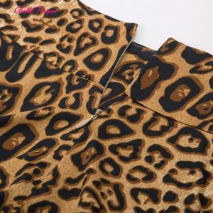 Image 3 - Belle Poque Leopard Print High Waist Skirt Pleated Midi Women Autumn Winter Flared Skirt Fashion Bow Party Skirt Gothic Vintage