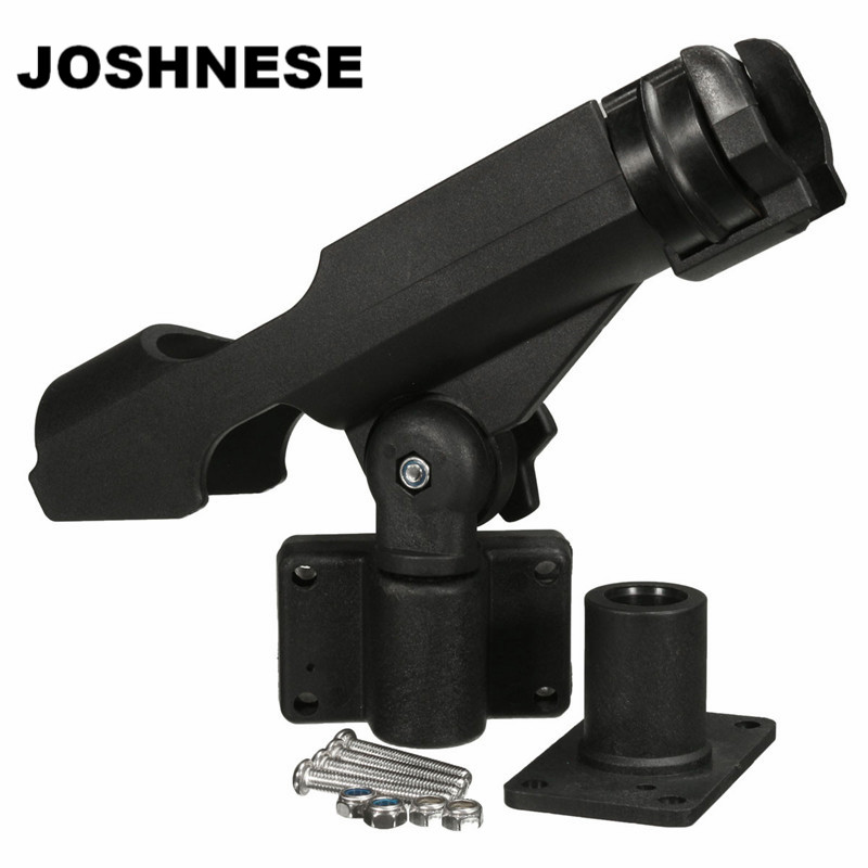 Fishing Support <font><b>Rod</b></font> Holder Bracket Kayaking Yacht Fishing Tackle Tool 360 Degrees Rotatable <font><b>Rod</b></font> Holder With Screws For Boat
