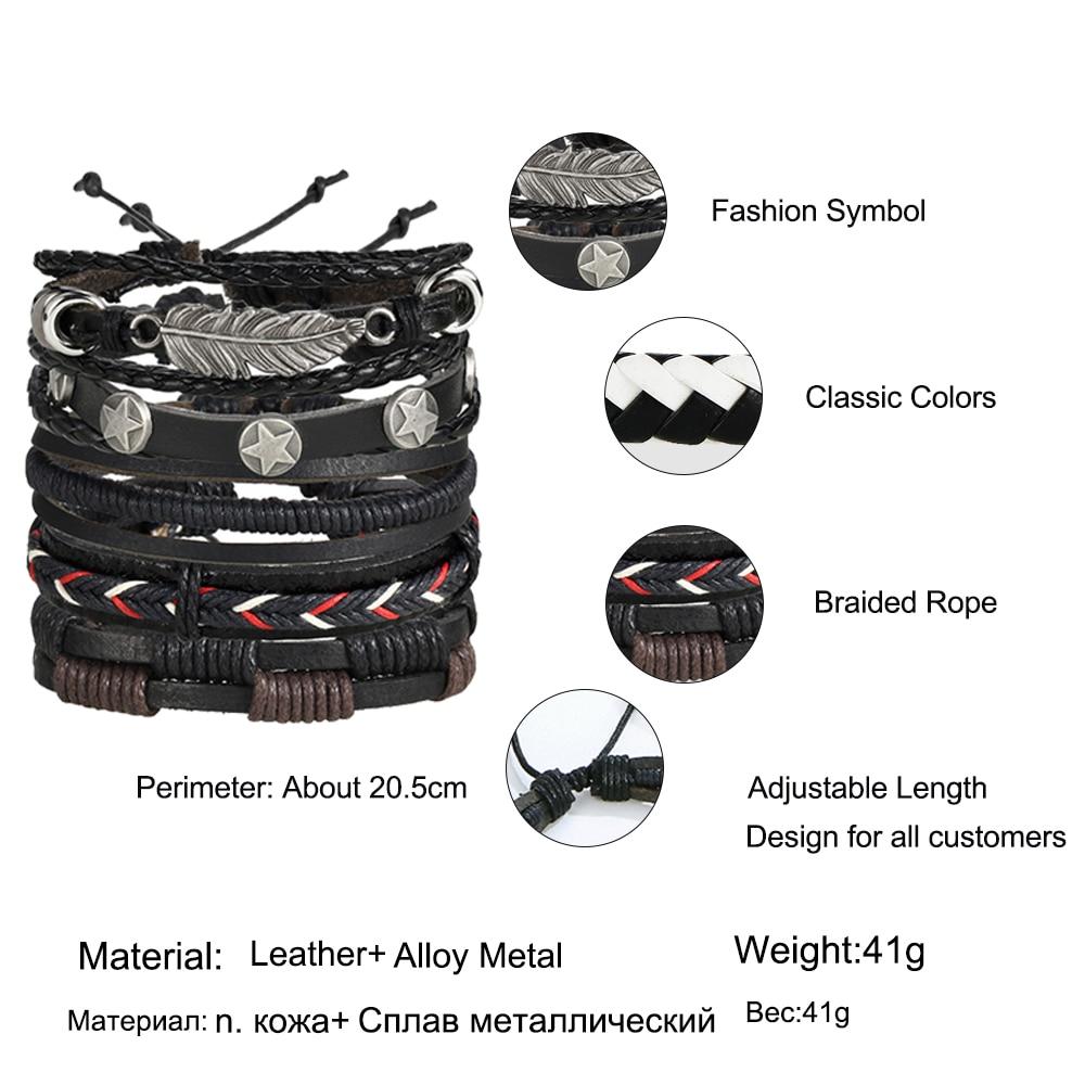 Multilayer Leather Bracelet Men Fashion 5