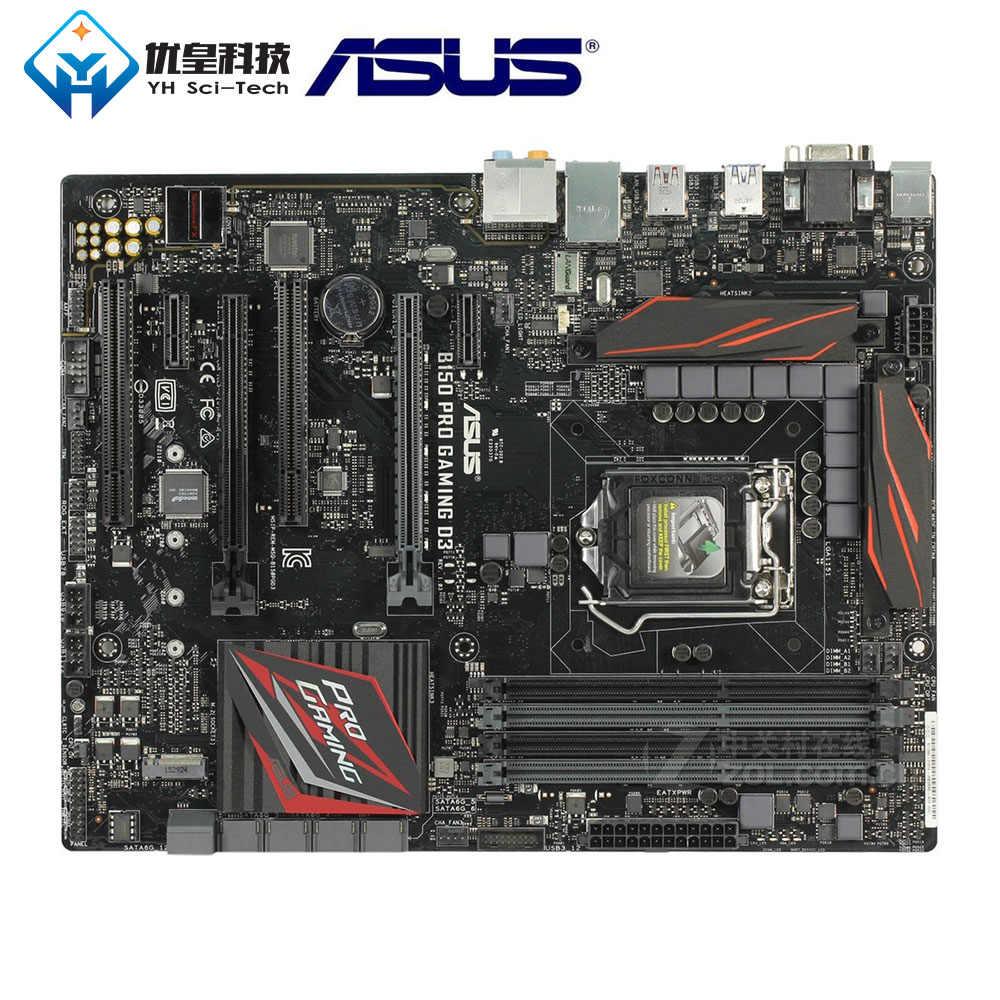 Asli Digunakan Desktop Papan Utama Intel B150 ASUS B150 PRO GAMING D3 LGA 1151 Core I7/I5/I3/ pentium/Celeron DDR3 64G ATX