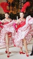 Custom Make Fantasia Club Women Dance Cabaret Fancy Dress Red Meregue Cabaret Halloween Costumes