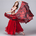 100% Silk Stage Performance Dancewear Accessories Tie Dye Light Texture Veil Shawls Women Scarf Costumes Belly Dance Veils