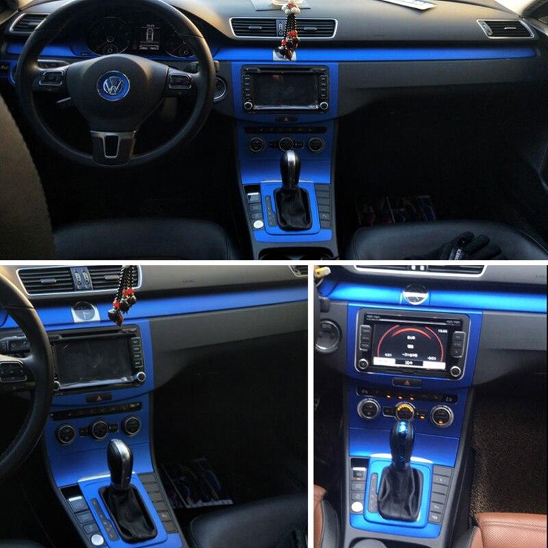 Car-Styling 3D/5D Carbon Fiber Car Interior Center Console Color Change Molding Sticker Decals For Volkswagen VW CC/Passat B7