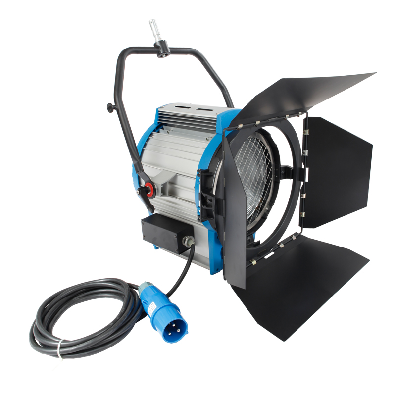 High Power 5000W Studio Fresnel Tungsten Light Spotlight Focusable + Globe video light