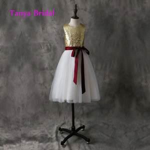f0719ea6442 TANYA BRIDAL Floor Length Flower Girl Dress Ivory Tulle
