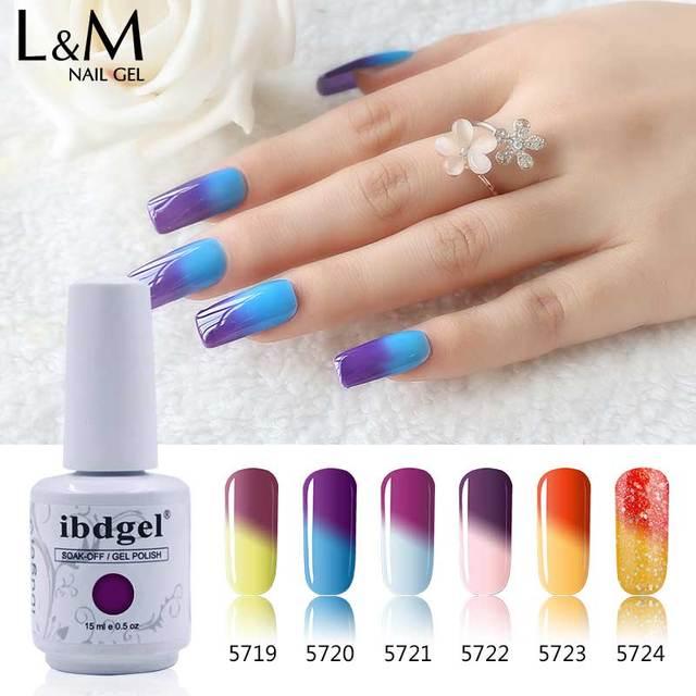 12pcs Margic nail gel LVMAY Chameleon Temperature Change Colors UV ...