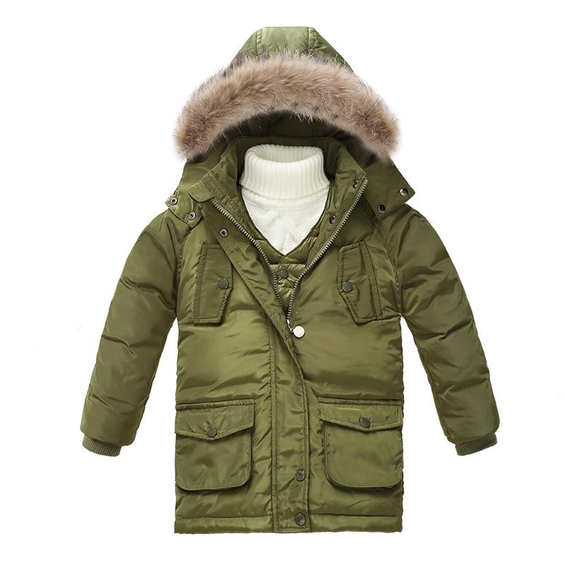 Children two piece vest jacket Winter Children Girls Warm Down Parkas Children Long waterproof Outerwear Coat