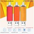 Mobile Phone Computer Dual Ssb Flash Drive Flat Twin Plug Pen Drive OTG USB Flash Drive 4G/8G/16G/32G/64G Pendrive OTG Stick