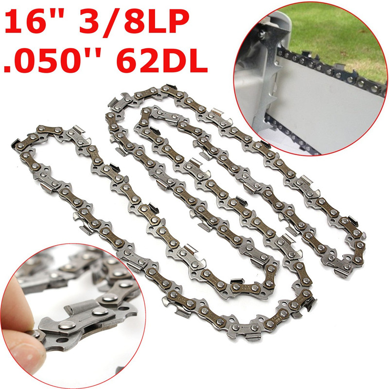 Chainsaw Chain Blade 16 Inch 021 025 MS230 MS250 Stihl .325 Pitch .050 Gauge 62DL Replacement 36cm Chainsaw Drive Link AccessoryChainsaw Chain Blade 16 Inch 021 025 MS230 MS250 Stihl .325 Pitch .050 Gauge 62DL Replacement 36cm Chainsaw Drive Link Accessory