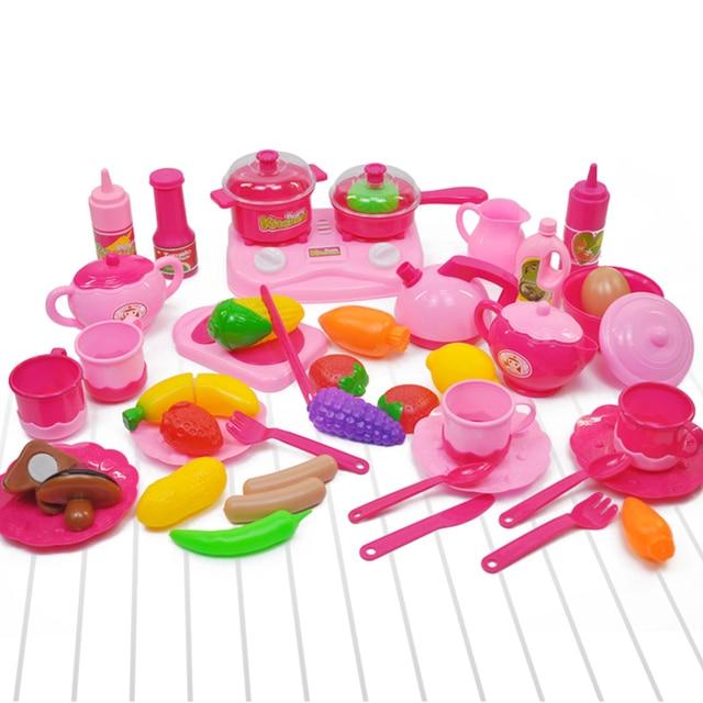 Inbeajy 44pcs Baby Mini Cooking Games Kitchen Toy Plastic Pretend
