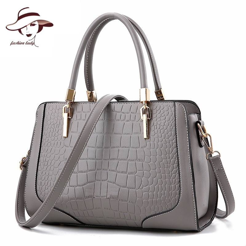 luxury famous brand women bag ladies handbag high quality shoulder bags PU leather tote crocodile pattern messenger bag bolsos