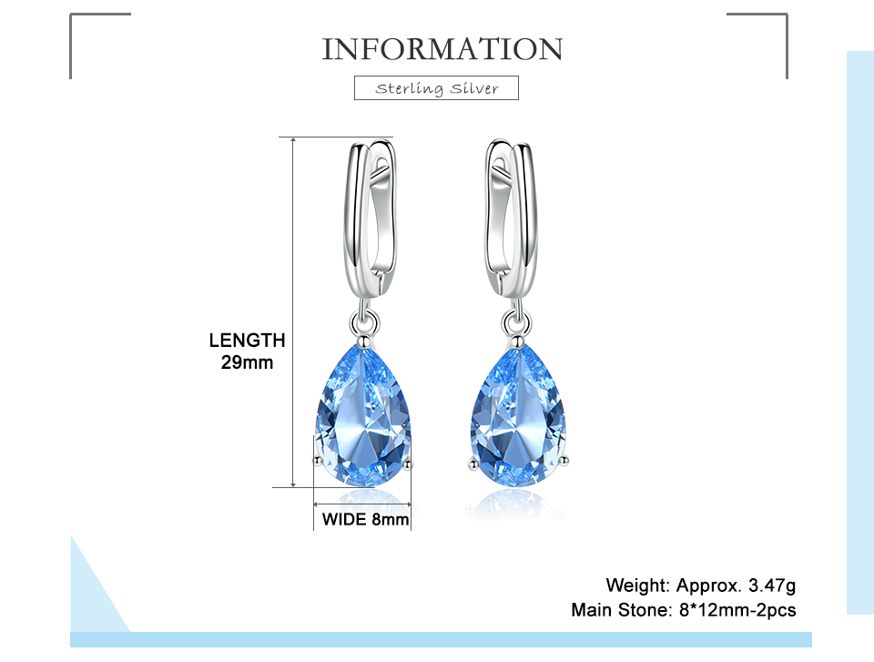 UMCHO  Nano Sky Blue Topaz 925 sterling silver earring for women EUJ095B-1-pc (2)
