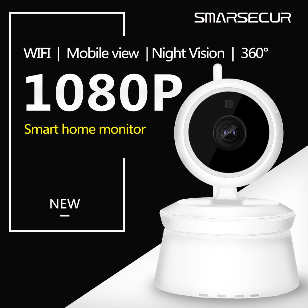 SMARSECUR 2MP IP Camera 1080P Wi-Fi Surveillance Camera Support inserted 128GB MicroSD card