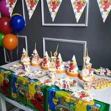 Seasame Street Elmo Disposable Tableware Set Birthday Party Childrens Decoration Baby Shower Supplies