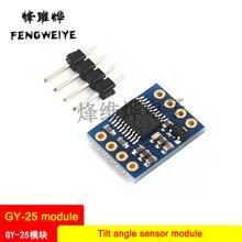 Panel GY-25 Tilt angle sensor module Serial port direct output angle data MPU-6050 module