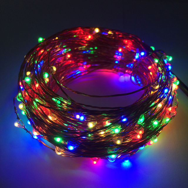 Flashlight 30M 300 LED Copper Wire String Lights Outdoor Neon Starry Strings Light Wedding Party Christmas  Decorations For Home