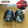 LENTAI 2 шт. наконечники из углеродного волокна для выхлопной трубы автомобиля глушитель наконечники Крышка для Jaguar XF XE F-PACE аксессуары 2 0 T 3 0 T TSI