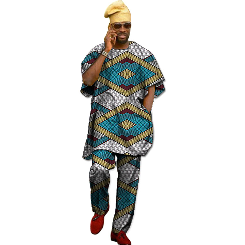 African Traditional Costume Shirt Men Dashiki Clothes