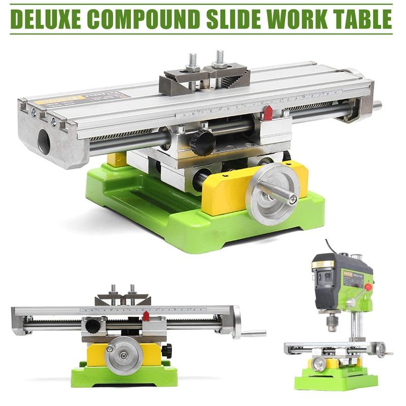 Premium Composto Slide Cruz Mesa de Trabalho Ajuste X-Y Fresagem Vise Cruz Mesa de Trabalho 6350 Furadeira de Bancada Mesa de Trabalho