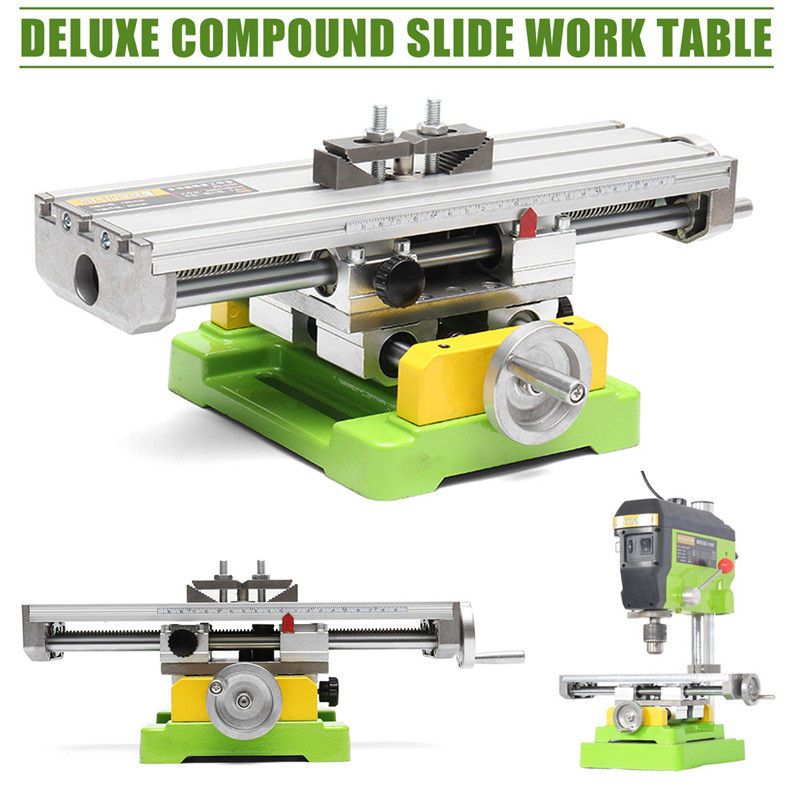 Premium Compound Cross Slide Working Table Adjustment X-Y Milling Working Cross Table 6350 Bench Drill Work Table Vise gktools electroplated metal sawing table working table of jigsaw z025mp