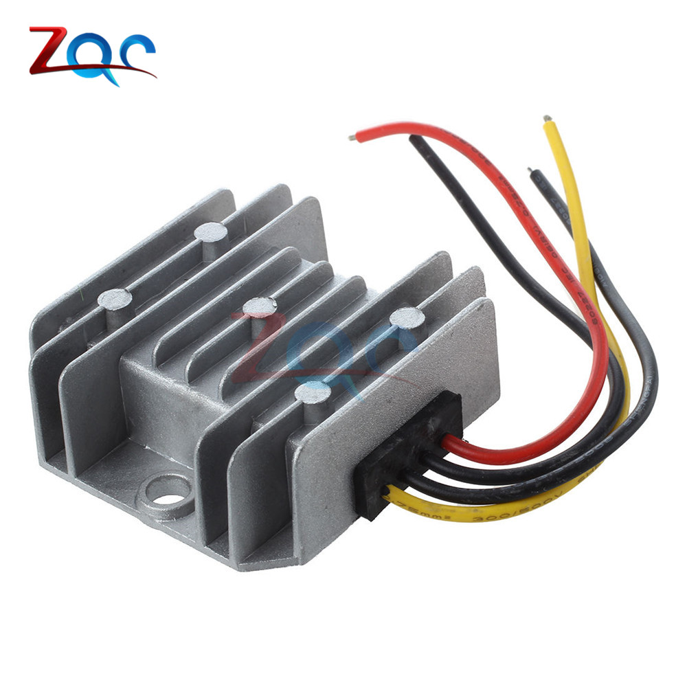 цена на 24V to 12V 5A 60W DC DC Converter Step Down Buck 1A 2A 3A 6A Voltage Regulator Newest Type Waterproof Adapter for Cars Trucks