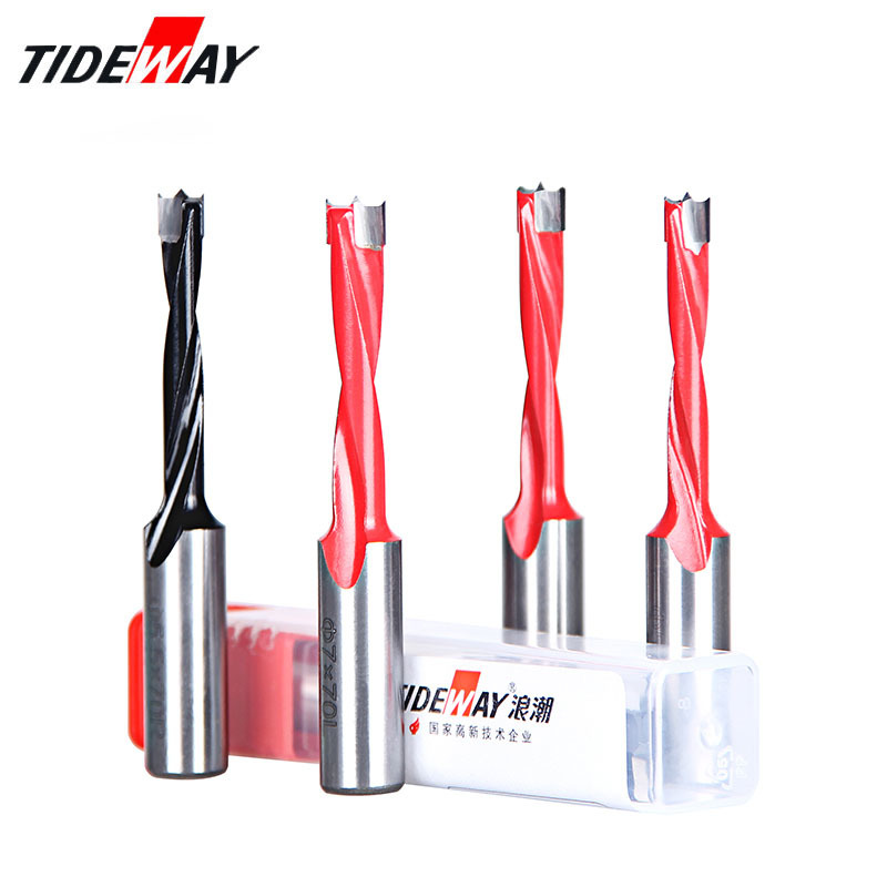Tideway 4mm 9 5mm Wood Drill Bit Length 70mm Router Bit for Wood Carbide Endmill Row Drilling for Boring Machine Drills in Drill Bits from Tools