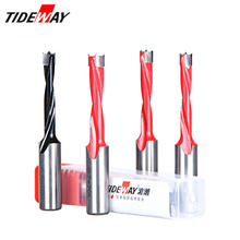 Tideway 4mm-9.5mm Wood Drill Bit Length 70mm Router Bit for Wood Carbide Endmill Row Drilling for Boring Machine Drills
