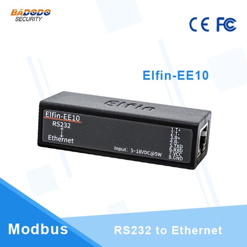Serial port RS232 to Ethernet serial port device server Elfin-EE10 support TCP/IP Telnet Modbus TCP Protocol 10pcs pack ce hf eport e20 freertos network server port ttl serial to ethernet embedded module dhcp 3 3v tcp ip telnet