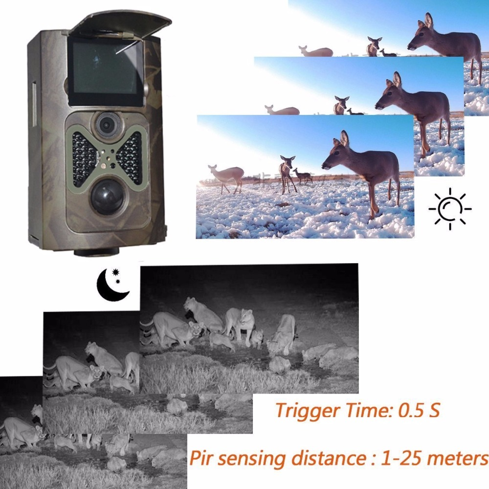 MIXSIGH HC550A Hunting Camera  Full HD 12MP 1080P Video Night Vision  Scouting Infrared Game Hunter Camera s990 hunting trail camera full hd 12mp 1080p scouting camera video night vision scouting infrared game hunter camera wildlife