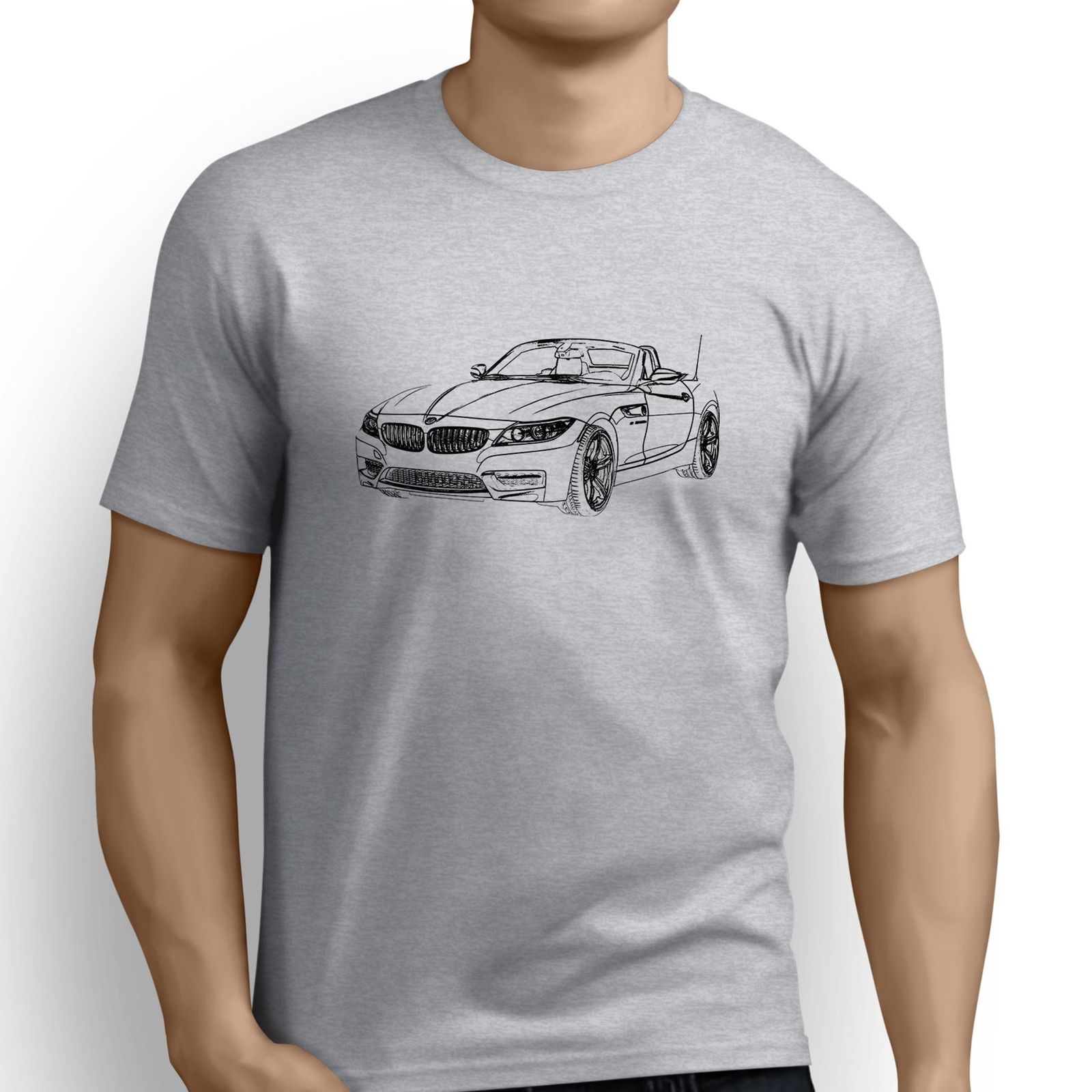 2018 Fashion Short Creative Printed T-Shirt Men'S Tee German Car Fans Z4 Inspired Car Art Mans Fitted T Shirts