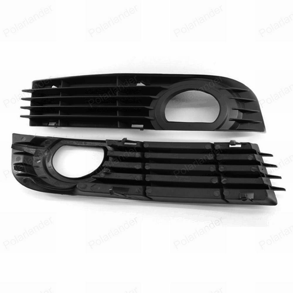 one pair Left + Right Front Bumper Fog Light lamp Grille Protective Covers for A/udi A8 S8 Q/UATTRO D3 2006 2007 2008 2pcs pair front lower bumper fog light fog lamps left
