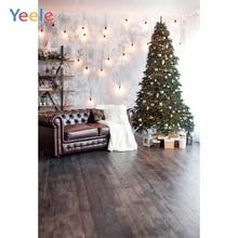 Yeele Photography Backdrops Dreamy LED Light Interior Sofa Christmas Tree Professional Photographic Backgrounds For Photo Studio