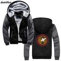 Firefly Serenity Print Sweatshirts Men Hoody Zipper Thicken Hoodie Winter Male Casual hoody Hip Hop Jacket Tops