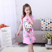 Новинка года, детская одежда для девочек летние платья пижамы для маленьких девочек Милая Ночная рубашка принцессы Детская домашняя одежда для сна для девочек WQ23