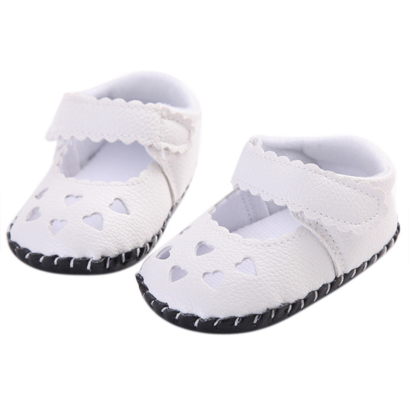 2018 Hot Sale Sandals Newborn Baby Kids Girls Hearts Embroidered Shoes Toddler Soft Sole Shoes Sandals mini melissa sandalias S