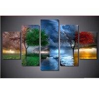 5d Diy Diamond Painting Four Seasons Trees Cross Stitch Square Full 3d Diamond Embroidery 5pcs Set
