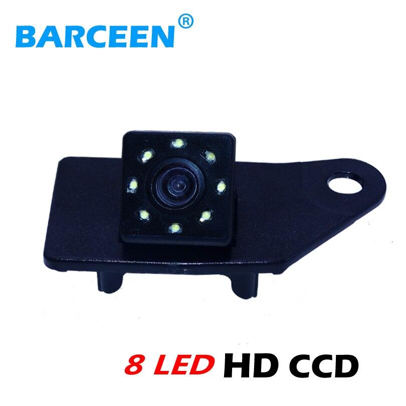 imágenes para Impermeable IP 69 K 8 LED cámara retrovisor coche traer 170 grados uso de lentes de vidrio para mitsubishi asx rvr 2013/2014 alimentación en stock