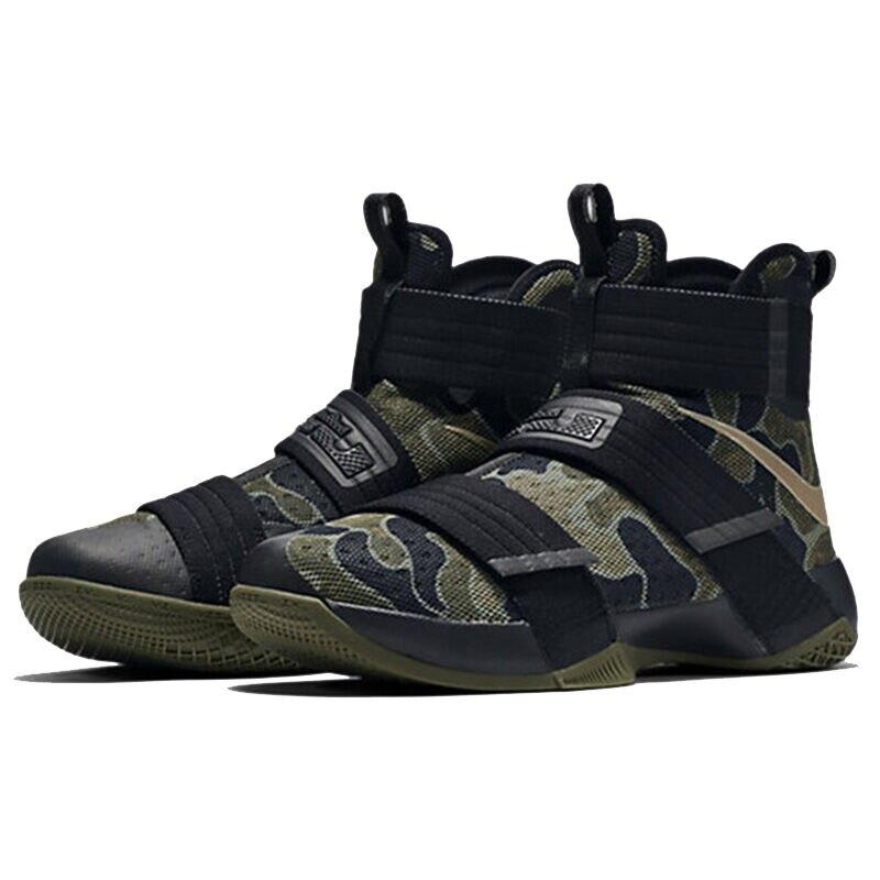 Nike Оригинальный LEBRON SOLDIER 10 Для мужчин прохладный камуфляж  Баскетбольные кеды Спортивная обувь кроссовки купить на AliExpress 597aa4b46ee3a