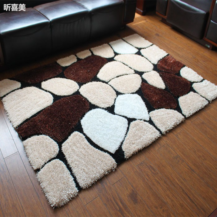 Ev ve Bahçe'ten Halı'de Yeni varış halı kalınlaşma moda 3d elastik ipek halı yatak odası halısı masa paspaslar