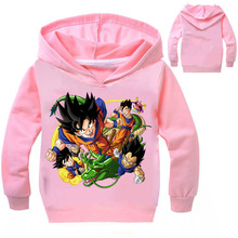 Z&Y 3-16Years Dragon Ball Clothing Baby Coat Boys Hoodies and Sweatshirts Autumn Jacket Girl Outwear Casacos Para Meninas Q005