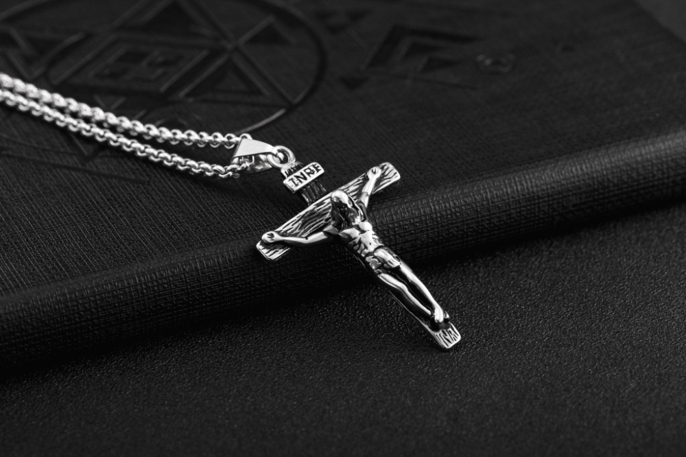 Tibetan Cross Necklace Silver Repoussee  Pendant 117984
