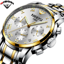 Relogio Masculino NIBOSI Top Luxury Brand Fashion Wristwatch Stainless Steel Men's  Watches Waterproof Saat Erkek Montre hommes