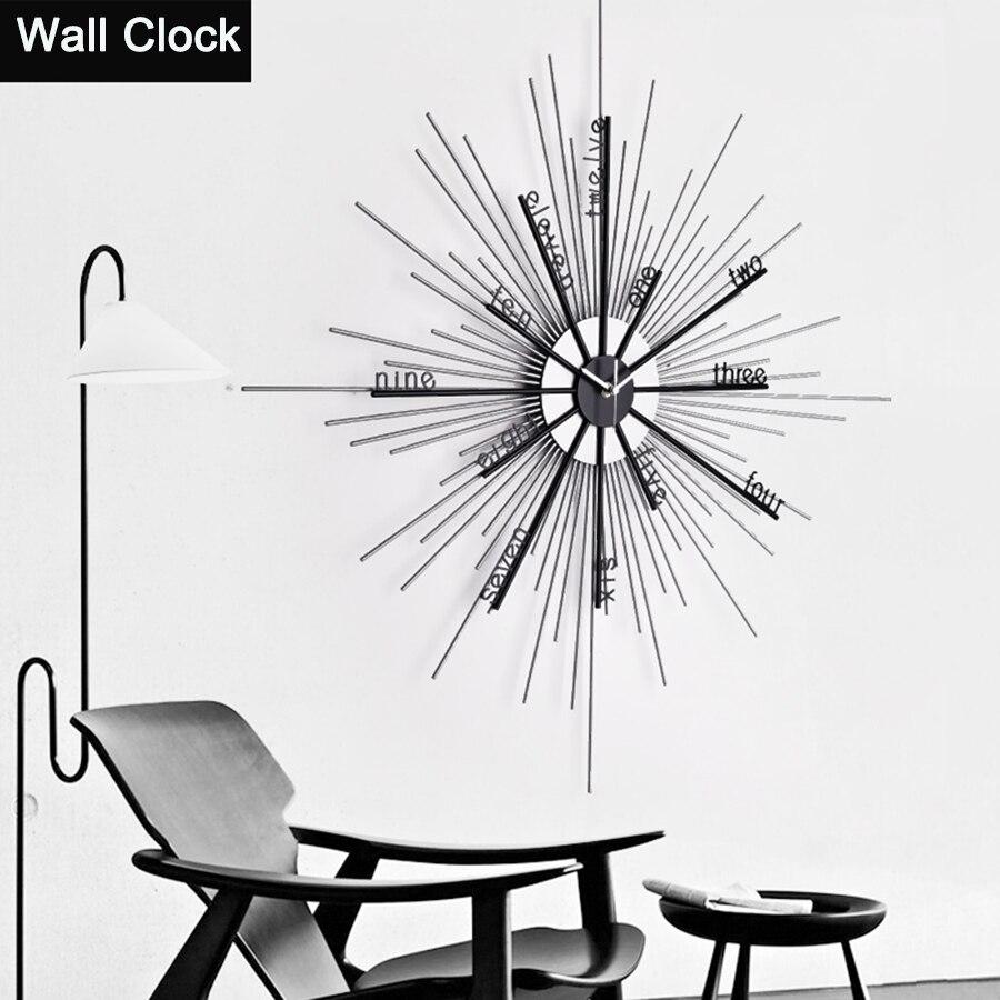 Simple Creative Creative Métal Horloge Murale Artisanat Mur Montre Circulaire Home Decor El Métal Moderne Horloges Décoratif Outils 50A0910