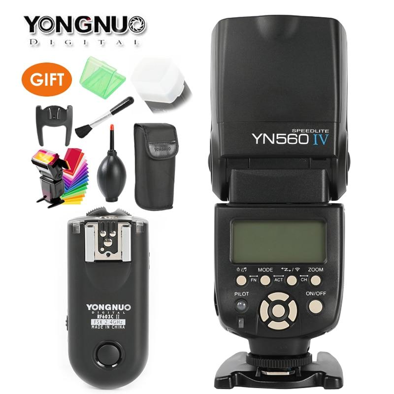 YONGNUO YN560 IV,YN-560 IV Master Radio Flash Speedlite + RF-603 II Wireless Trigger Receiver for Canon Nikon DSLR Camera original yongnuo yn560 iv yn 560 iv master radio flash speedlite rf 605 wireless trigger for canon 1000d 650d 600d 550d dslr