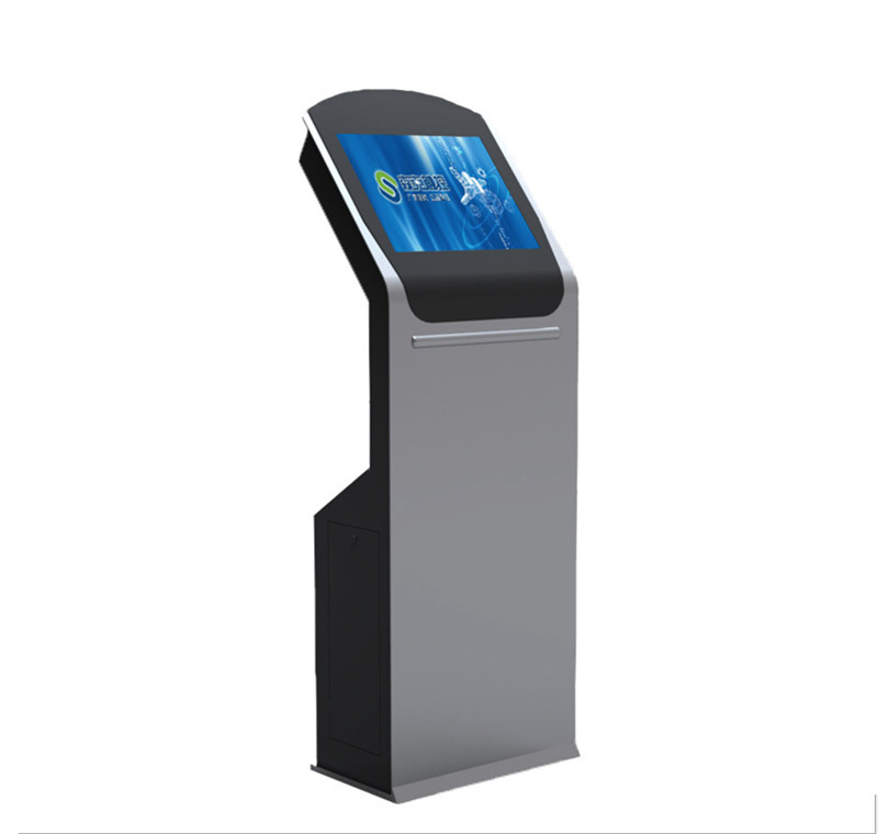 19 Inch Free Stand Touchscreen Electronic Information Kiosk With Wifi